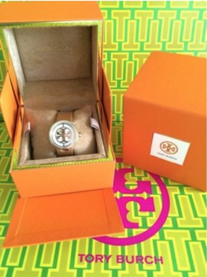 Tory Burch Tory Burch Watch, Authentic, Luggage Leather Strap w/gold face Image 1