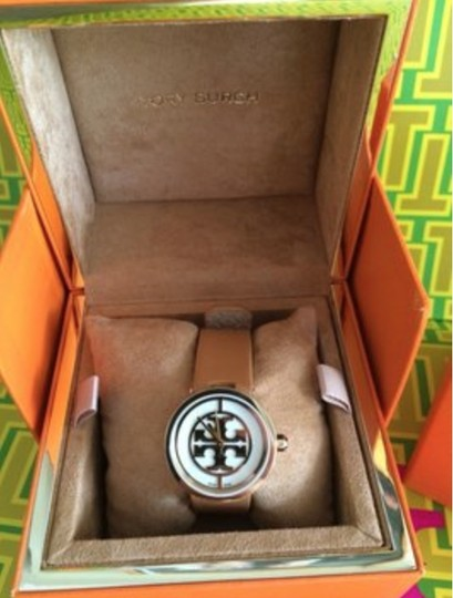 Tory Burch Tory Burch Watch, Authentic, Luggage Leather Strap w/gold face Image 2