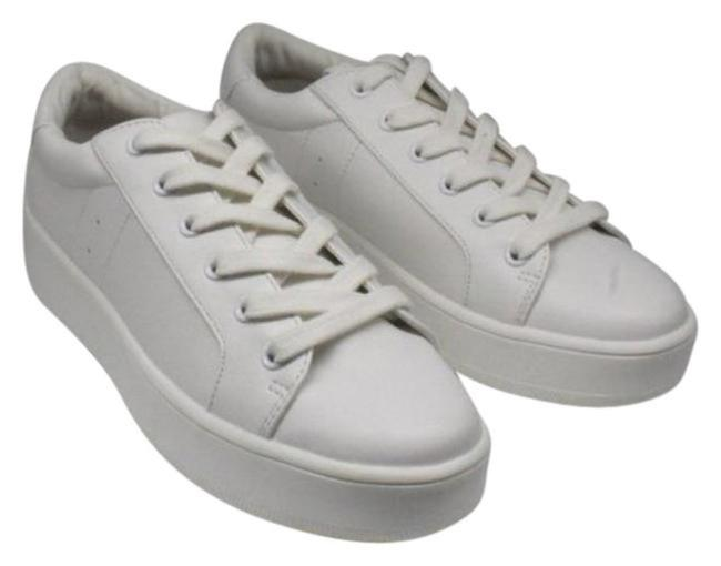 Item - White Women's 'birdie' Lace-up Sneaker Boots/Booties Size US 8.5 Regular (M, B)