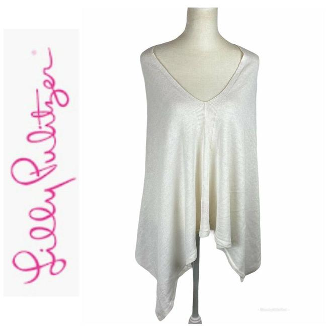 Item - Sparkle Pull Over Poncho Os White Top