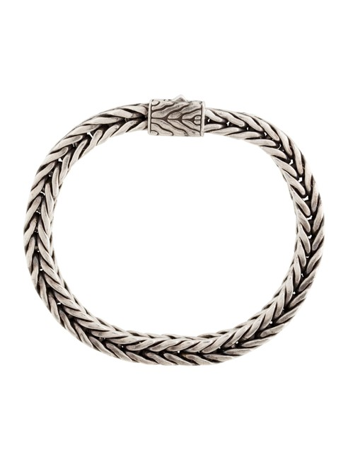 Item - Sterling Silver Square Classic Wheat Chain Bracelet