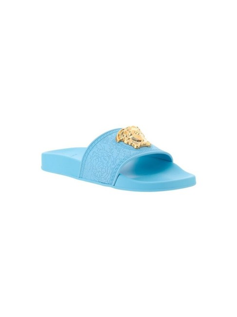 Item - Light Blue Palazzo Pool Slides Sandals Size EU 37 (Approx. US 7) Regular (M, B)