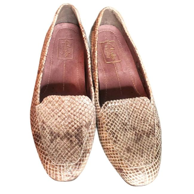 Item - Brown Leather Snakeskin Loafers Flats Size US 6 Regular (M, B)