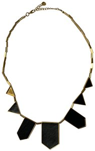 House of Harlow 1960 Geometric Leather Station Necklace