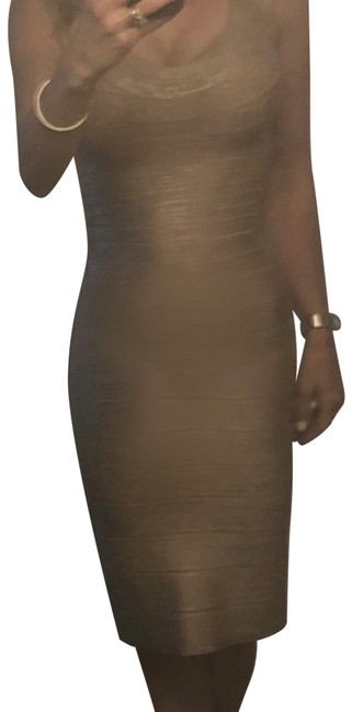 Item - Nude Mid-length Night Out Dress Size 4 (S)