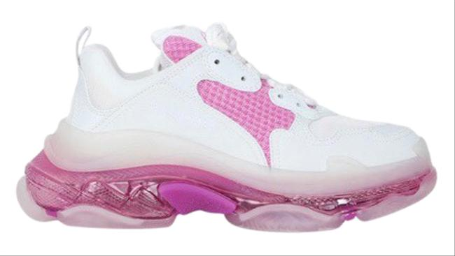 Item - Pink Triple S Clear Sole Sneakers Size EU 36 (Approx. US 6) Regular (M, B)