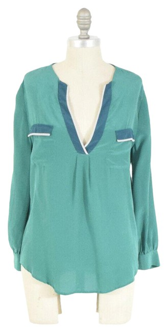 Joie Green Washed Silk Blouse Size 2 (XS) Joie Green Washed Silk Blouse Size 2 (XS) Image 1