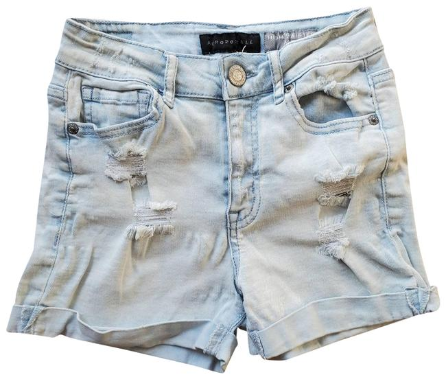 Item - Blue High Rise Waisted Shorts Size 00 (XXS, 24)