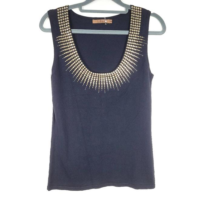 Item - Gold Stardust Studded Scoop Tank Top/Cami Size 8 (M)