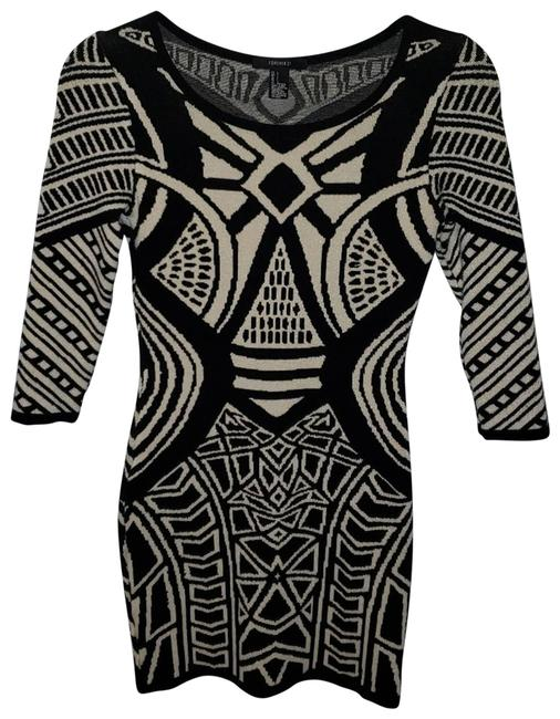Item - Tan L Chunky 3/4 Sleeve Bodycon Night Out Dress Size 12 (L)