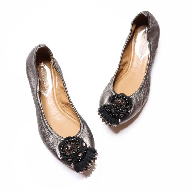 Item - Gray Embellished Ballet Leather Taupe Flats Size EU 36 (Approx. US 6) Regular (M, B)