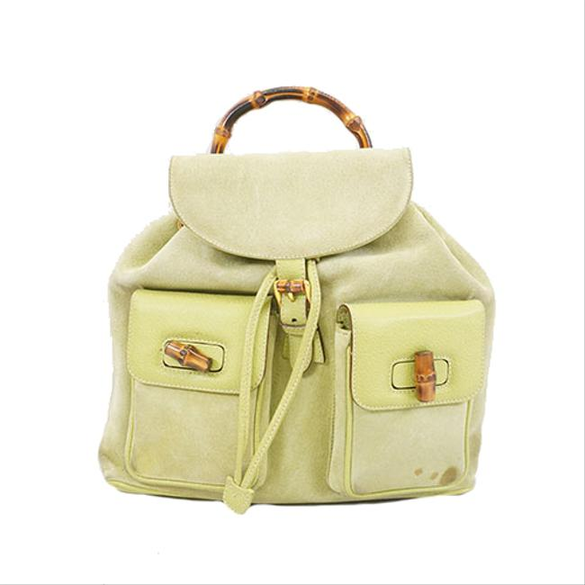 Item - Bamboo Rucksack 003 2058 0016 Women's Green Leather Backpack
