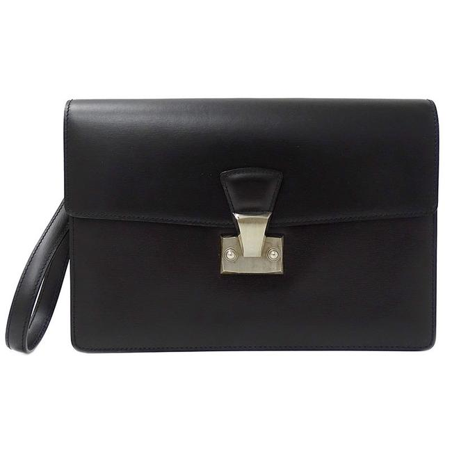 Item - Pasha Second Black Leather Clutch