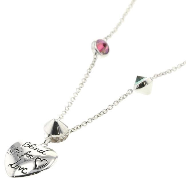 Item - Green / Pink / Silver Blind For Love 925 Zirconia Ladies Necklace
