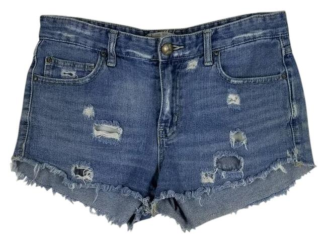 Item - Blue Distressed 27 Shorts Size 4 (S, 27)