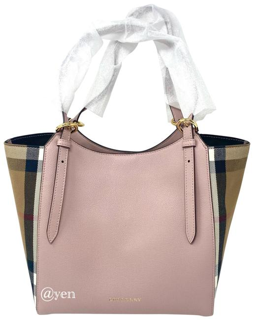 Item - House Check Durby Canterbury Pink Leather Tote