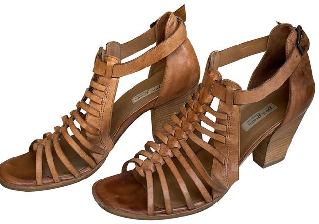 Item - Brown Christy Strappy Rustic Leather Sandals Size US 8 Regular (M, B)