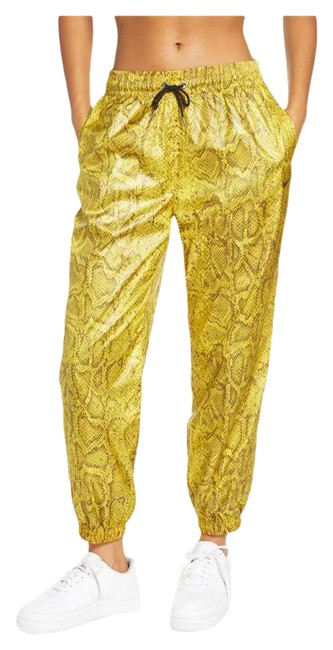 Item - Yellow/Brown Python Print Woven Activewear Bottoms Size 8 (M)