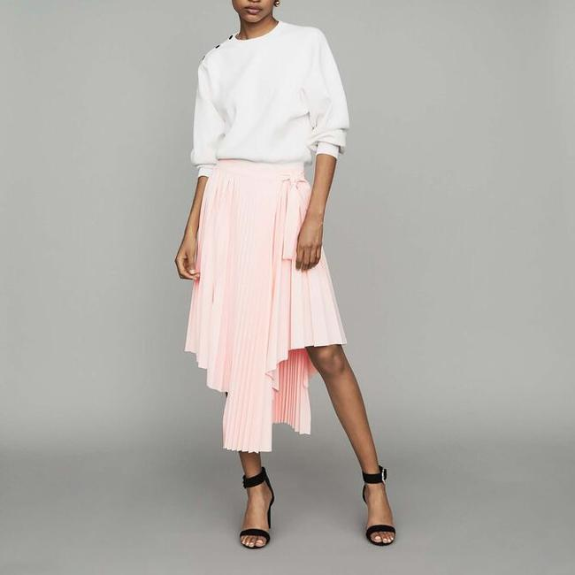 Item - Peach Jaxy Asymmetrical Pleated Skirt Size 8 (M, 29, 30)