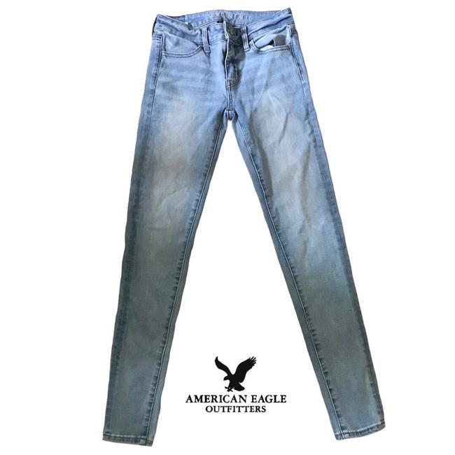 """Item - Blue Medium Wash 360 Next Level Stretch Regular Denim Wmns 0. Condition Is """"Excellent Pre-owned"""". With Jeggings Size 0 (XS, 25)"""