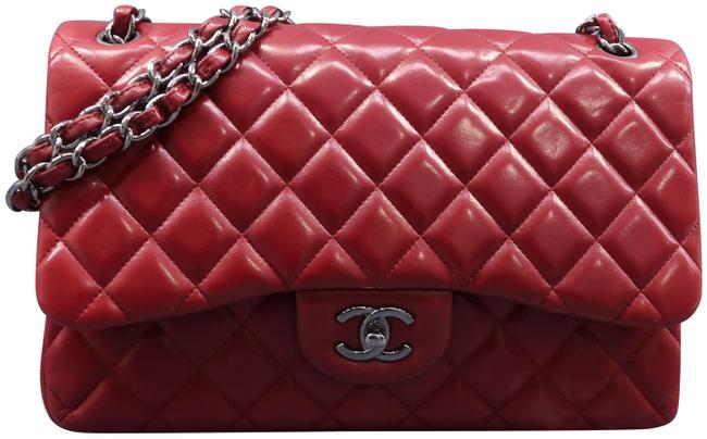 Item - Classic Flap Classic Jumbo Double Red Lambskin Leather Shoulder Bag