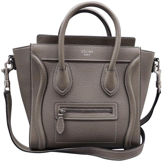 Item - Luggage Nano Grey Calfskin Leather Satchel