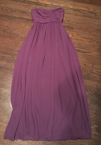 Monique Lhuillier Eggplant Chiffon Bridesmaid/Mob Dress Size 2 (XS)