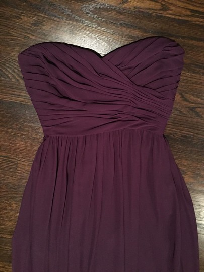 Monique Lhuillier Eggplant Chiffon Bridesmaid/Mob Dress Size 2 (XS) Image 1