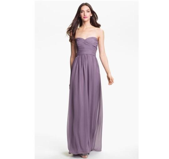 Monique Lhuillier Eggplant Chiffon Bridesmaid/Mob Dress Size 2 (XS) Image 2