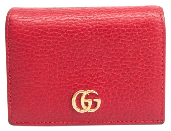 Item - Red Color Marmont Petite 456126 Women's Leather (Bi-fold) Wallet