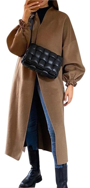 Item - Camel Tan Wool Belted In Coat Size 2 (XS)