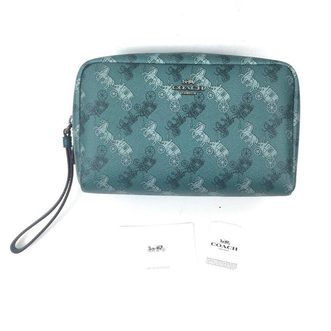 Item - Green New Horse & Carriage Boxy Cosmetic Bag