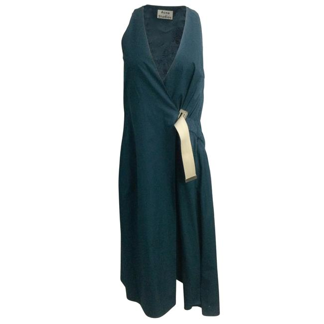 Item - Teal Green Chen Pop Buckled Wrap Cocktail Dress Size 4 (S)
