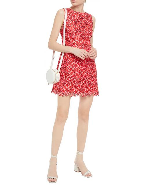 Item - Red Clyde Floral Lace Short Cocktail Dress Size 4 (S)