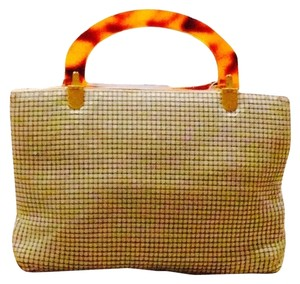 Other Elka White Vintge Mesh Amber Handle Satchel in OFF WHITE