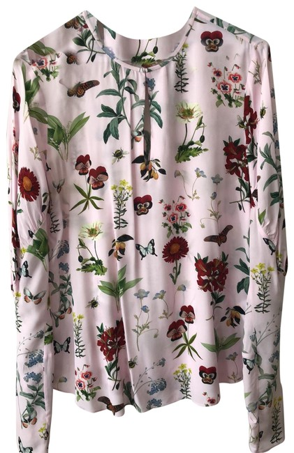 Item - Light Pink Foral 105230 Blouse Size 8 (M)