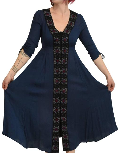 Item - Blue Horizon Exclusive Journey To The Midi Mid-length Casual Maxi Dress Size 2 (XS)