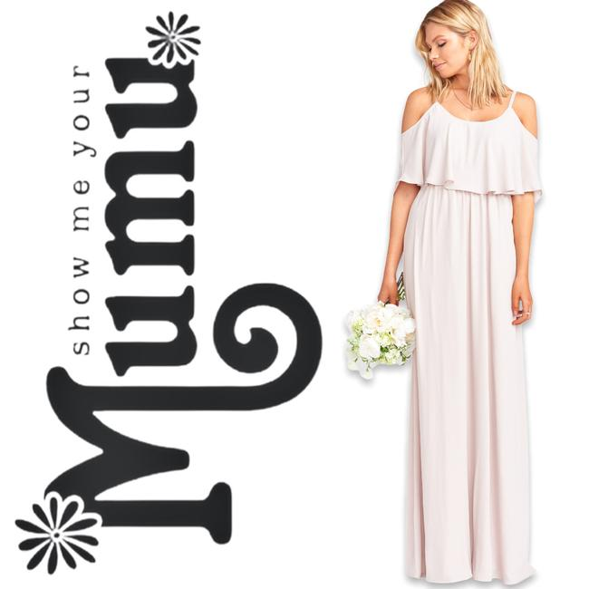 Item - Cream Caitlin Ruffle The Ring Feminine Bridesmaid/Mob Dress Size 14 (L)