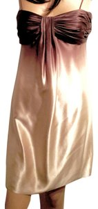 Calvin Klein Exclusive Designer Date Night Prom Party Holiday Night Out Custom Coffee Cream Beauty Dress