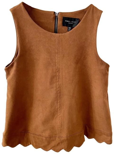 Item - Brown Suede Like Tank Top/Cami Size 0 (XS)