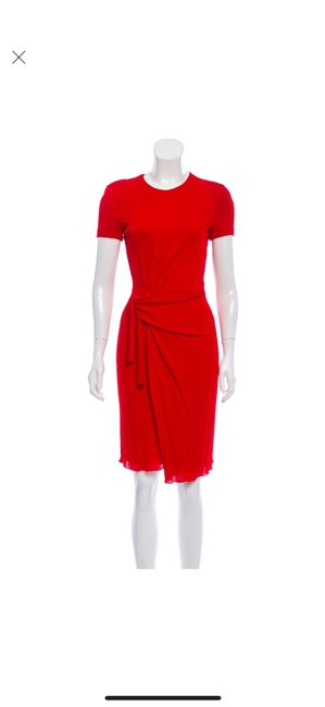 Item - Red W Short Sleeve Knee Length W/Tags Mid-length Work/Office Dress Size 0 (XS)