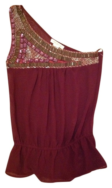 Preload https://img-static.tradesy.com/item/2909119/arden-b-maroon-sheer-one-shoulder-night-out-top-size-2-xs-0-0-650-650.jpg