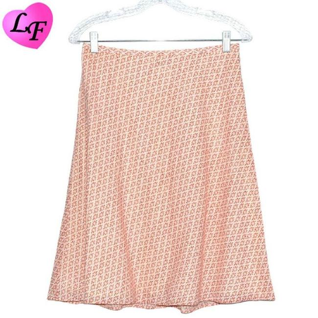 Item - Red Geometric Floral Skirt Size 6 (S, 28)