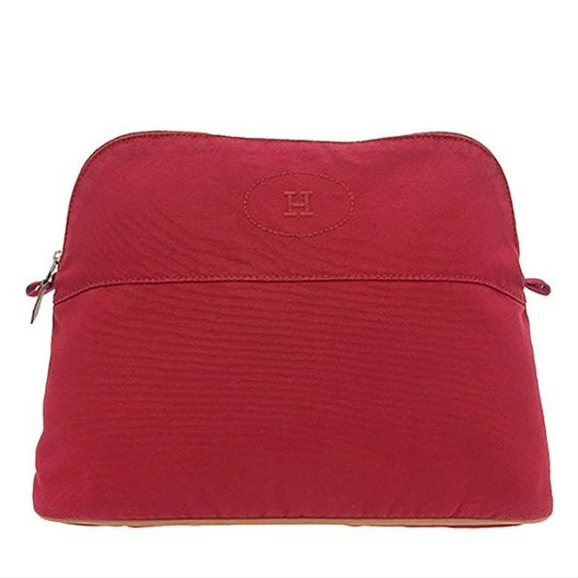 Item - Bored Pouch Red Color Canvas Clutch