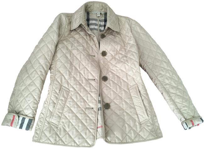 Item - Beige Diamond Quilted Jacket Size 4 (S)