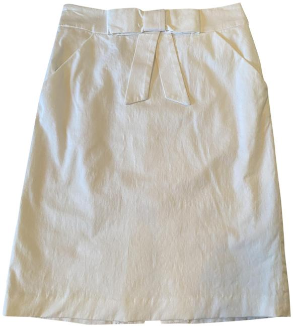 Item - White Bow Front Skirt Size 2 (XS, 26)