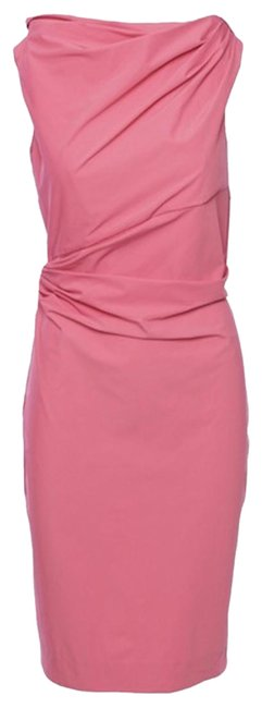 Item - Pink Draped Ameerah Mid-length Cocktail Dress Size 2 (XS)