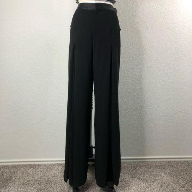 Item - Black Silver Palazzon Pleat Trousers Pants Size 8 (M, 29, 30)