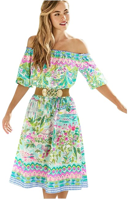 Item - Multicolor Camilla Off The Shoulder Floral Mid-length Casual Maxi Dress Size 4 (S)