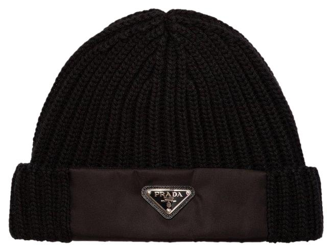 Item - Black Logo Knitted Beanie - L-size Hat